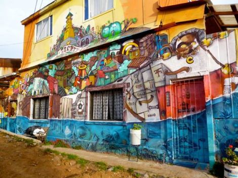 Les rues de Cerro Polanco à Valparaiso. MDB